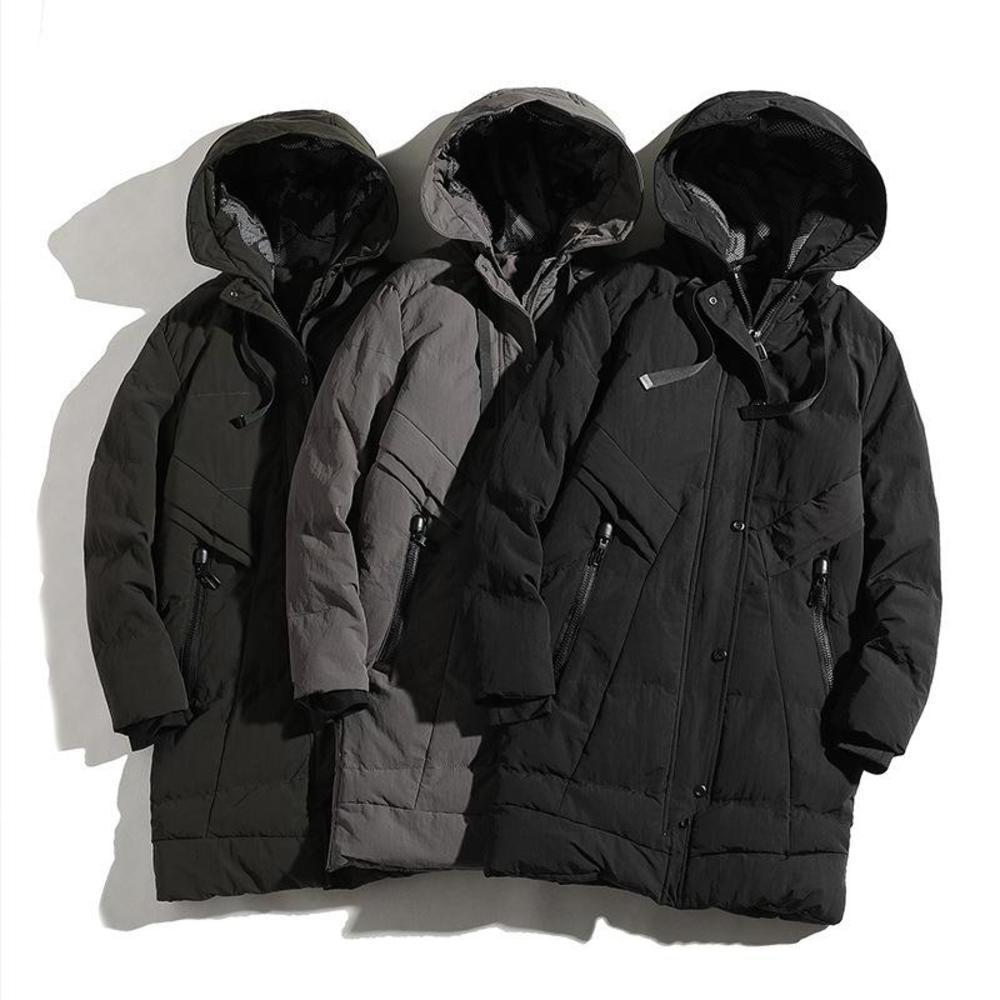 2021The new winter 2021 ins hooded thickening canada down men bomber jacket male or long coat to keep warm cotton-padded clothes