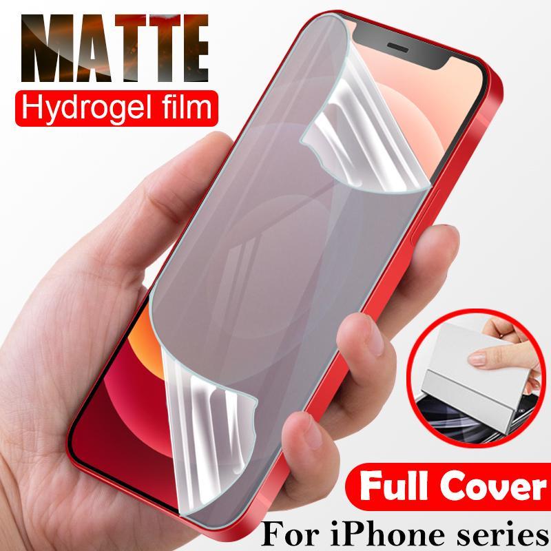 Матовый гидрогелевой пленок для iPhone 12 Mini 11 Pro Max Protectects XR XS X 8 7 плюс SE 2020 прозрачный фильм без стекла