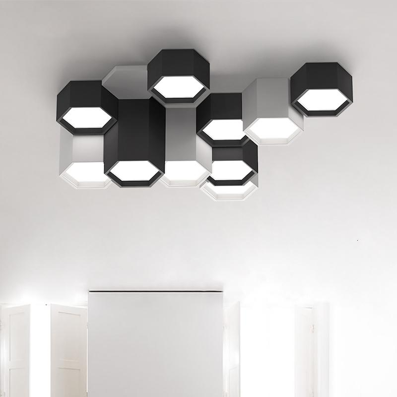 Modern Geometric Combination Suspended Chandelier Black White Living Room Drove Lamp From Pendant Ceiling to the Fourth Hall Kitchen G67s