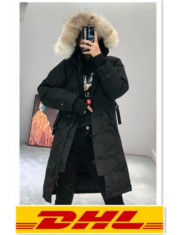 Ms.Style Canada Inverno Top Mulheres Homme Jassen Chaquetas Parka Outerwear Real Lobo Pele Com Capuz Fourrure Manteau Para Down Jacket Coat H