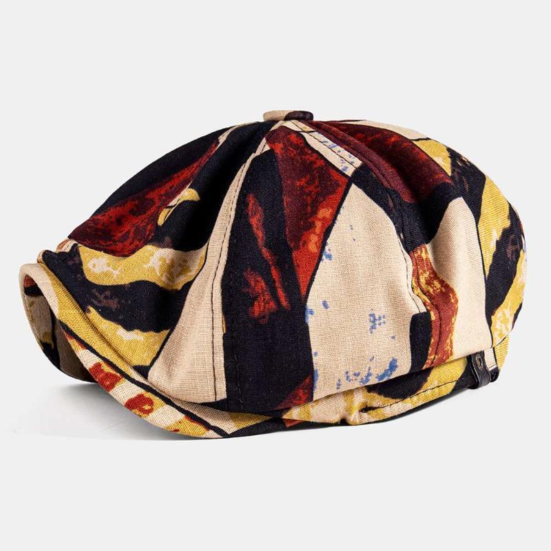 Berels Unisex Sonbahar Kış Sboy Caps Patchwork Renk Desen Erkek Izgara Kadınlar Sıcak Bere Şapka Erkek Dedektif Şapkalar Retro tarzı