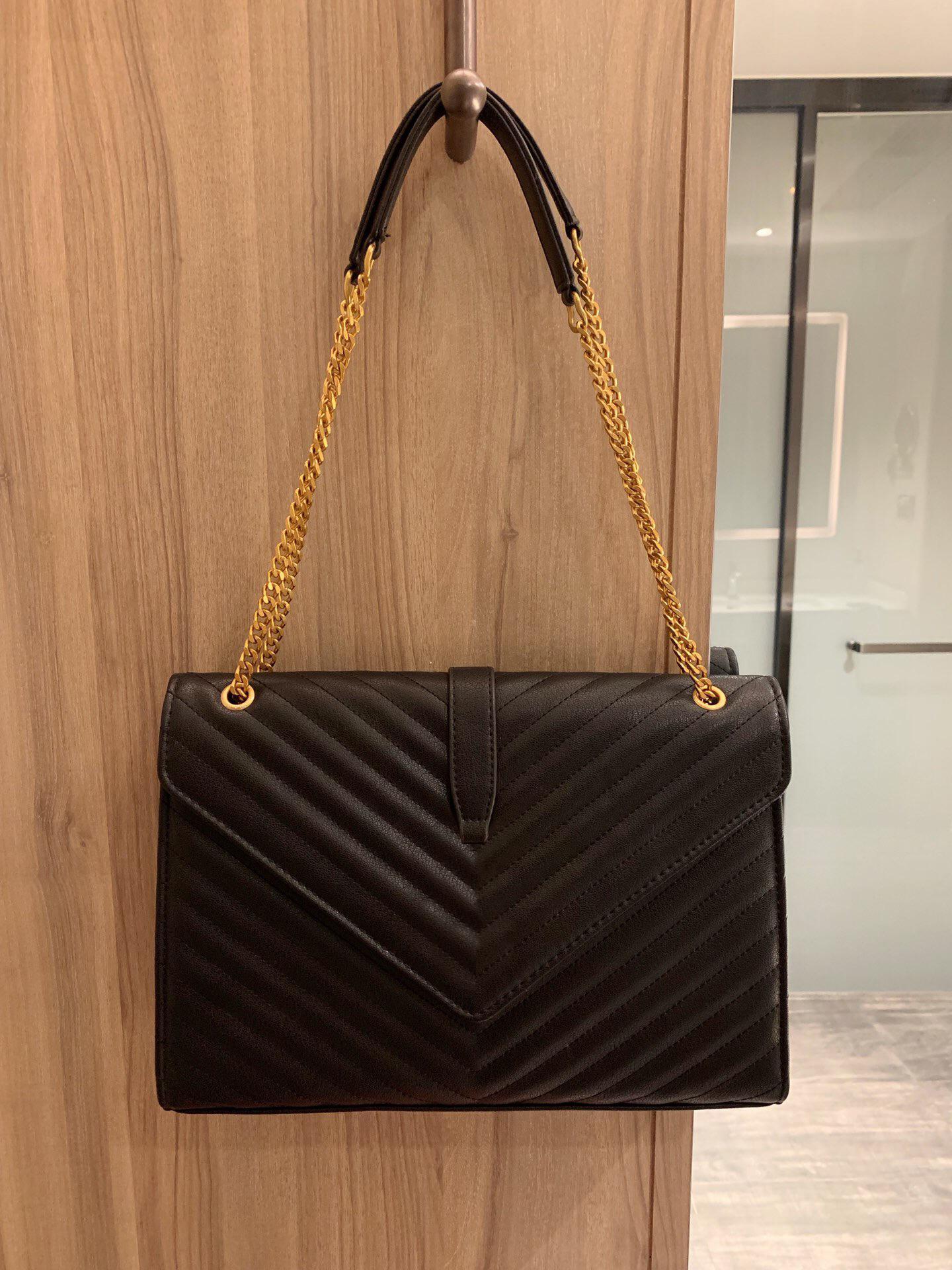 Bolsa de ombro do desenhador de moda luxo 2021 Hot Classic Melhor Qualidade Cadeia de Mão Feminina Bolsa De Couro Bolsa De Mensageiro Bolsa Quilted Bag