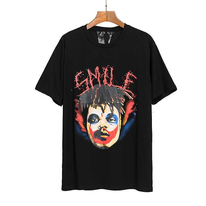 Мужская футболка дизайнер Br Новый модный клоун писем печатает негабаритный с коротким рукавом для мужчин женщин весной и летом 2021 года