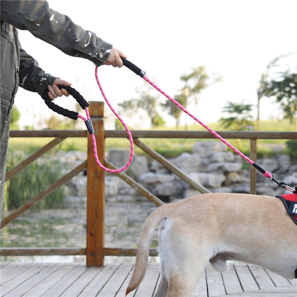 Hundeleine starke reflektierende Blei Seil für mittelgroße große Hundelauf-Gang-Zug-Pitbull-Bulldog Pugs Beagle Labrador Husky
