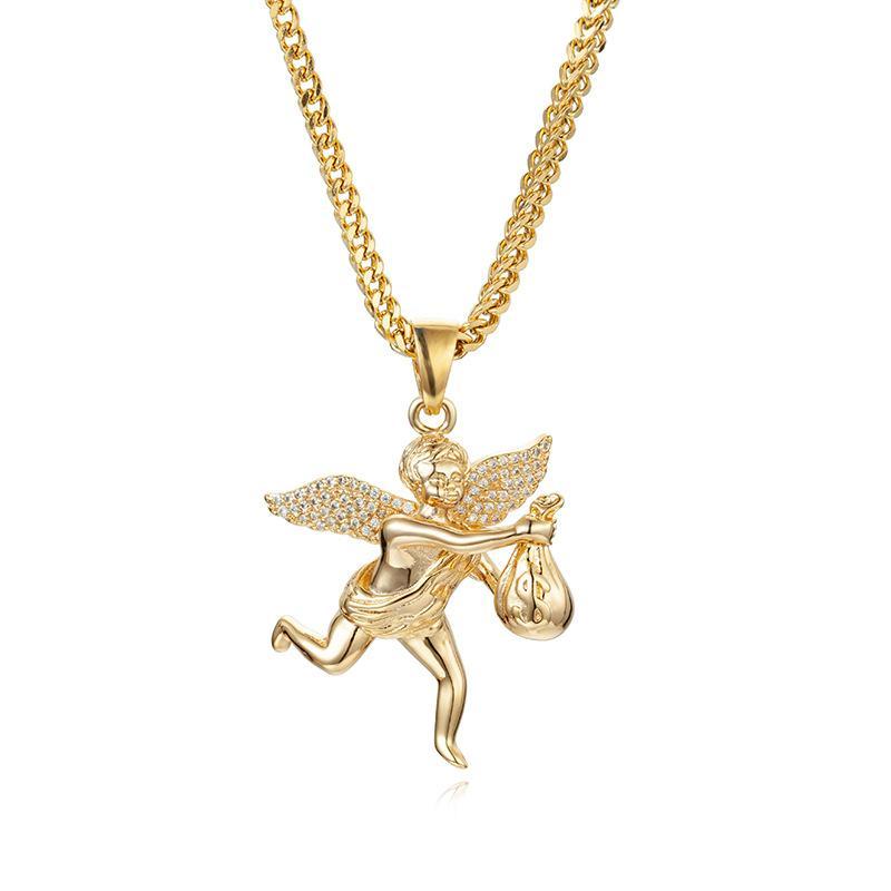 الماس مثلج خارج سلاسل قلادة رجل كوبا رابط سلسلة القلائد الهيب هوب جودة عالية مجوهرات شخصية للنساء الرجال WM0349