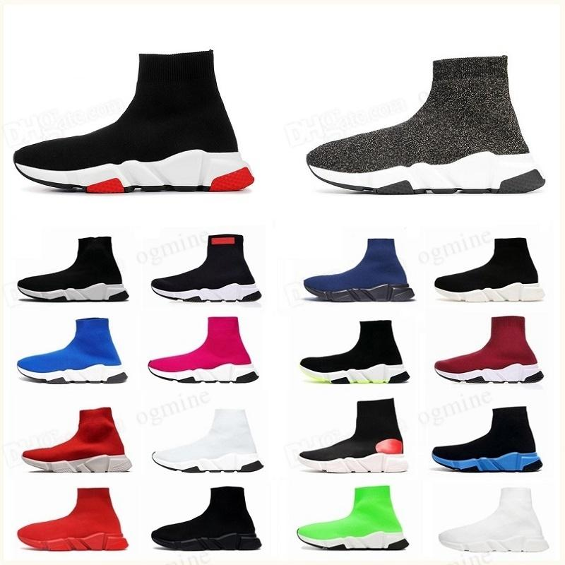 chaussures hommes balenciaca balanciaga 2021 spiridon caged Casual runner shoes Metallic Silver Lemon Venom Pistachio Frost speed womens mens trainers sports sneakers