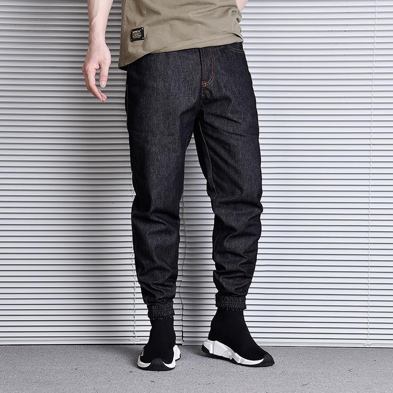 2021 Новый Японский Винтаж Дизайнер Свободные Fit Slack Bottom Harem Fashion Streetwear Hip Hop Джинсы Мужчины Брюки Брюки P7DD