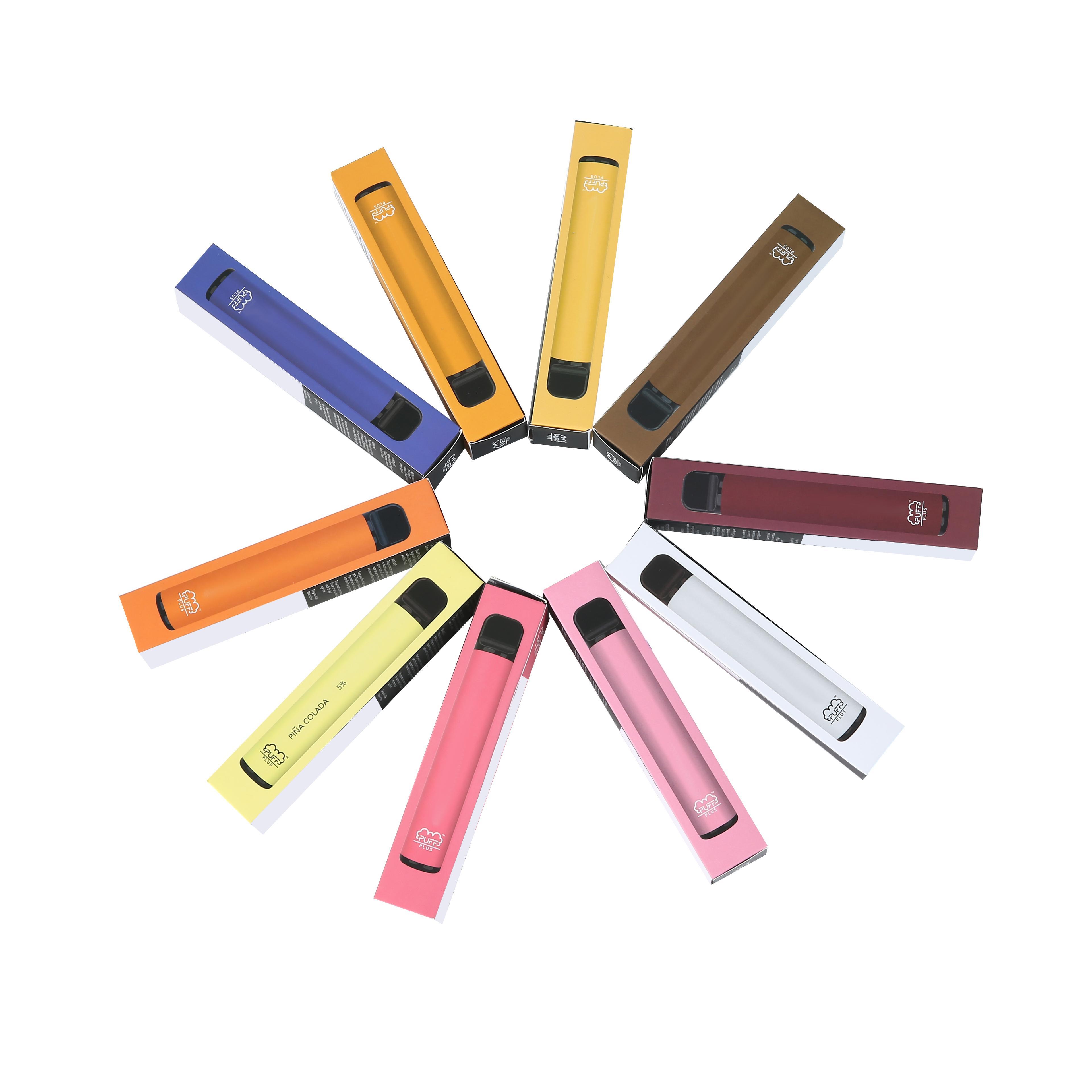 Barra de Puff Bar Plus 800+ Puff Disable Vaes 550mAh Bateria 3.2ML PODs Pré-repletos Vape com Código de Segurança Puff bar Plus 800
