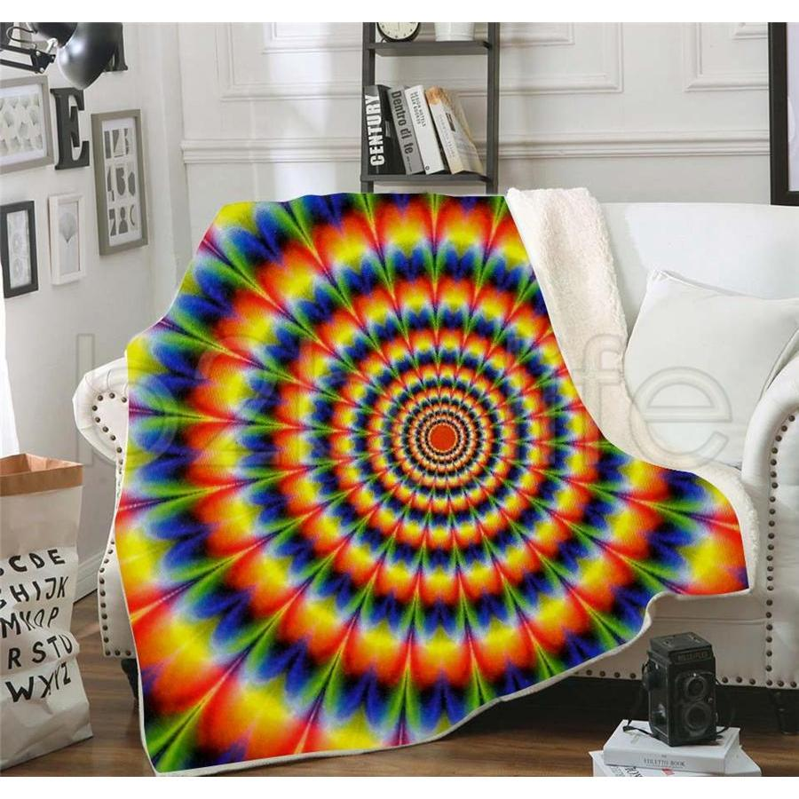 3d Digital Print Throw Blanket Fashion Winter Warm Baby Blanket Swaddling Bedding Quilt Nap Blankets Rainbow Tra jllntp sport77777