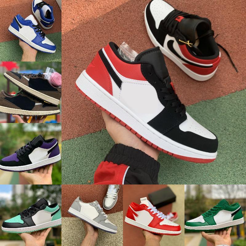 2021 جديد 1 رجل كرة السلة أحذية منخفضة استوائية ضوء ترافيس تمرير الشعلة تو اصخام الظل 1 ثانية المرأة سكيت أحذية مصمم byx12548