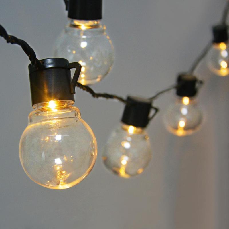 휴일 밤 빛 야외 실내 조명 LED 전구 바깥 쪽 발코니 정원 장식 거리 문자열 조명 벽 램프 램프