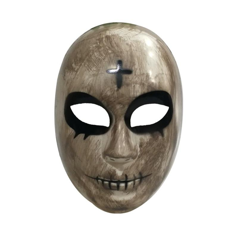 Halloween Purge Mask God Cross Scary Masks Cosplay Party Prop Collection Full Face Creepy Horror Movie Masque Halloween Mask 1058 B3