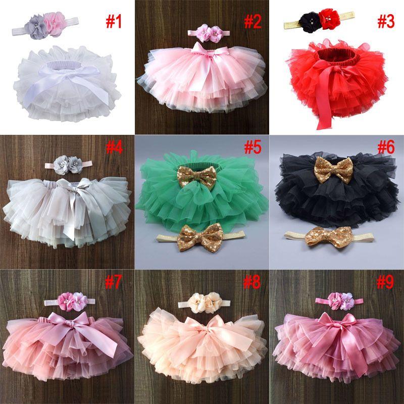 아기 소녀 투투 스커트 나비 거즈 스커트 디자이너 의류 머리 띠 PP 짧은 드레스 아기 공주 스커트 아기 옷 0-3t