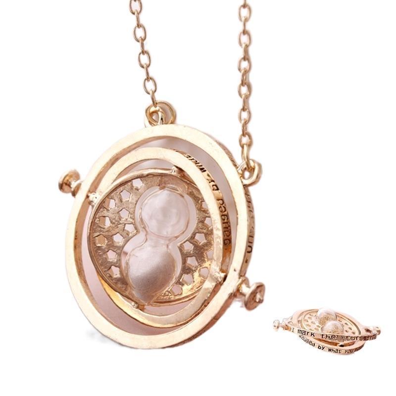 Цепи время транзит преобразователь Песочные часы Ожерелье Харри Стиль Подвеска Мода Ювелирные Изделия Винтаж Choker