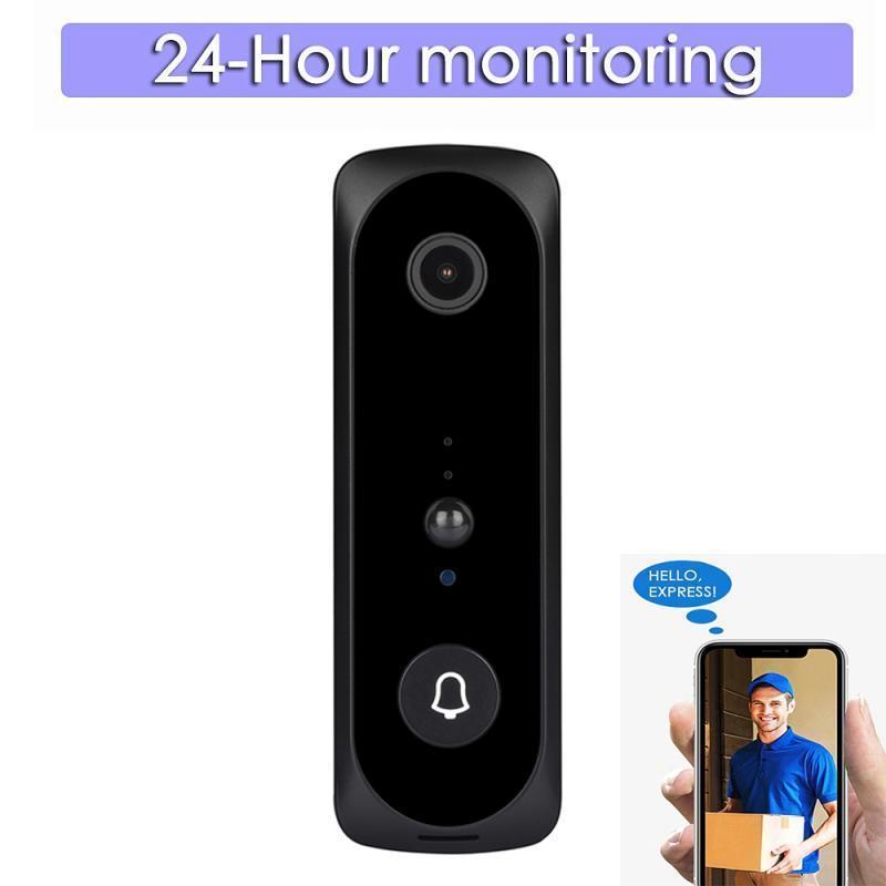 WIFI inteligente wireless campainha casa inteligente campainha 1080p full hd vídeo real monitor noturno noite tiro ip home segurança câmera sino