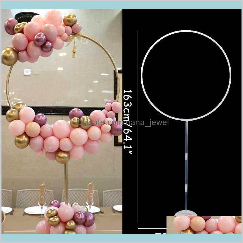 163x73 cm daire balon kemer çerçevesi balonlar standı tutucu kiti düğün süslemeleri ba loon doğum günü partisi bebek duş balon dekor j5nx dligk