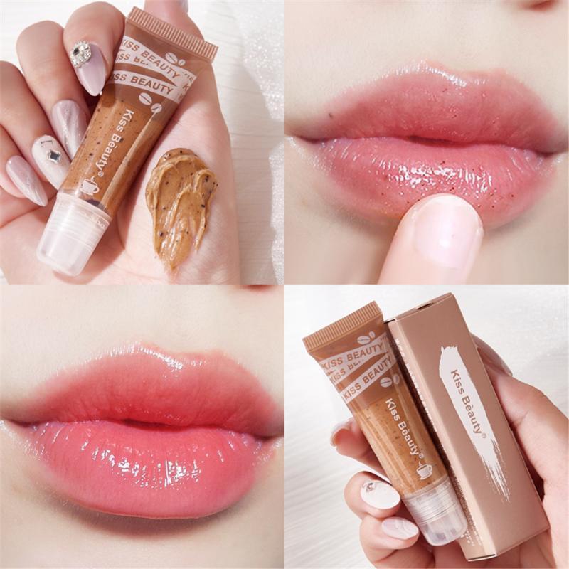 Lip Gloss 1pcs Proteggere labbra Idratante Cosmetici completi Rimuovi la cura della pelle morta Esfoliante Strumento di colore rosa