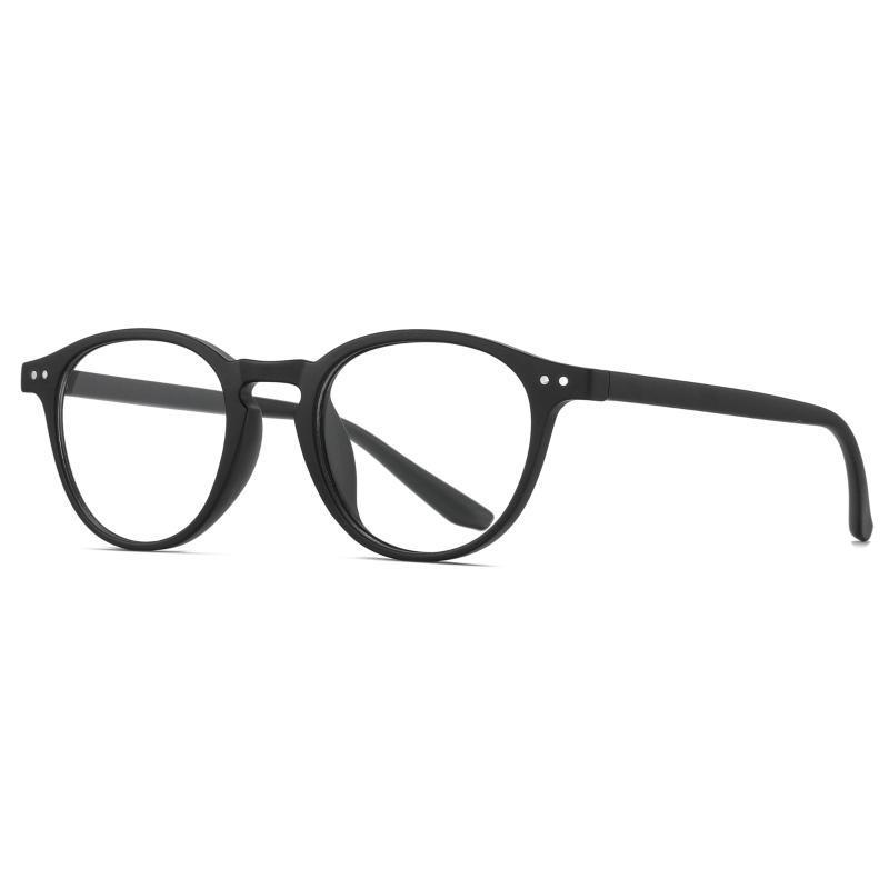 Ретро компьютерные очки синий свет блокируют очки без рецепта оптика маленький круглый TR90 очки кадров двойных металлических шипов