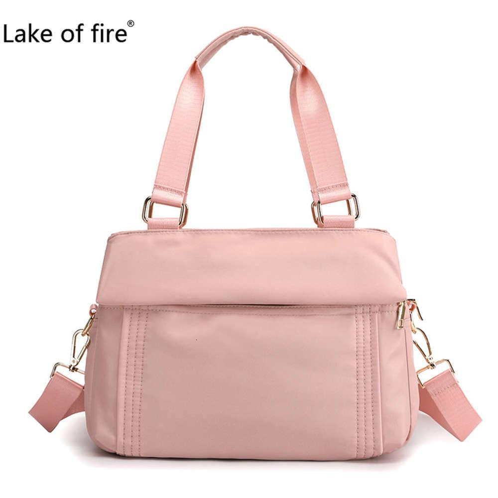 2020 Nuevo bolso de un solo hombro Bolsa de mujer Trend versátil Versátil Gran capacidad Simple Moda Casual Color Sólido Agua Repelente Bolsa de nylon