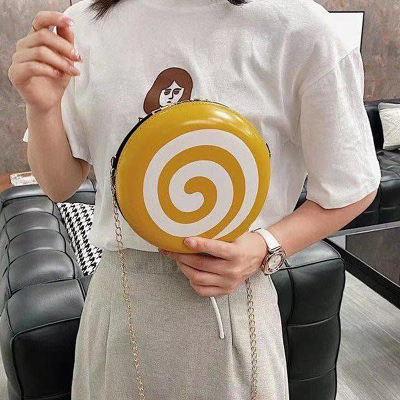 Крест круглая женская сумка 2021 тенденции мультфильм милые плечевые кожаные мода цепочка мягкая девушка необычные сумки для поперечины для женщин
