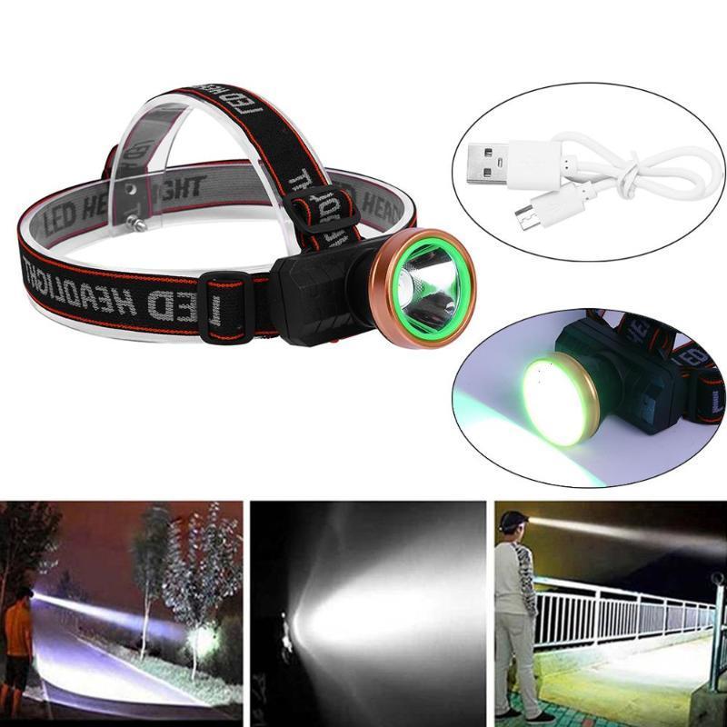 Faros LED recargables de Mingray USB para acampar la luz de la pesca en la cabeza de litio al aire libre de la cabeza