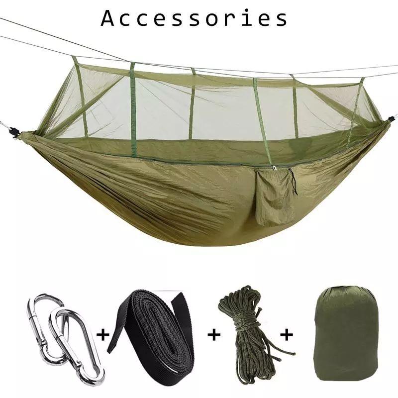 Mosquito Net Hammock 16 Colores 260 * 140 cm Paracaídas al aire libre Campo Camping Tienda de campaña Jardín Camping Columpio Cara OOA2117