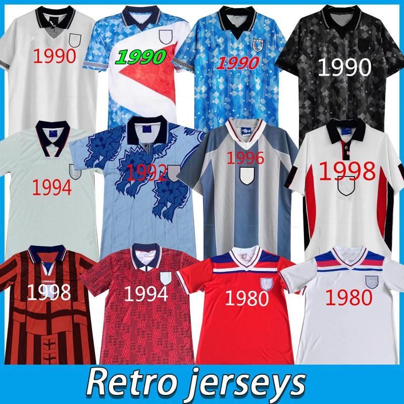 2008 2010 1989 1990 1992 1994 2002 1996 Inglaterra Retro Soccer Jersey Camisa de futebol Rugby Rooney Lampard Beckham Owen 1982 Keegan McDermott Shearer 1998 Jerseys