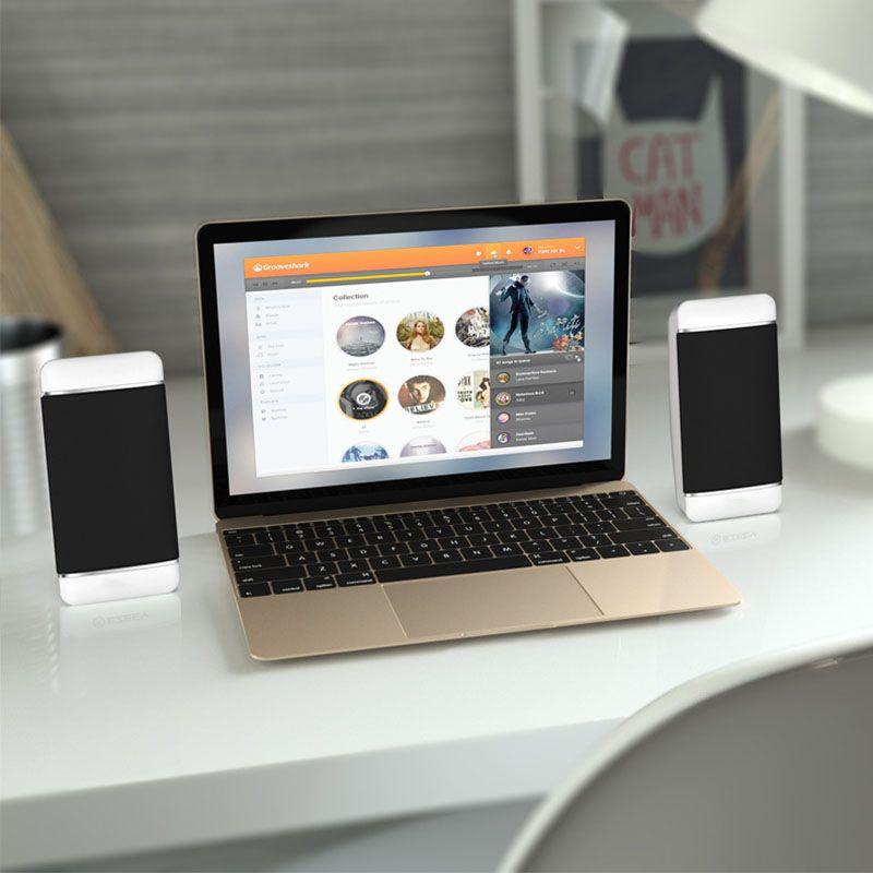 Altavoces de computadora con cable USB 2 piezas PC para computadora portátil Teléfono de escritorio Altavoz de audio Multimedia altavoz