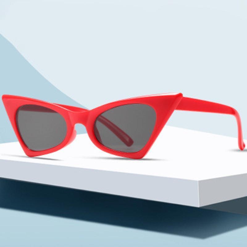Sonnenbrille Retro Cat Eye für Frauen 2021 Designer Vintage Kleinrahmen Sonnenbrille Männer Persönlichkeit Party Prom Shades