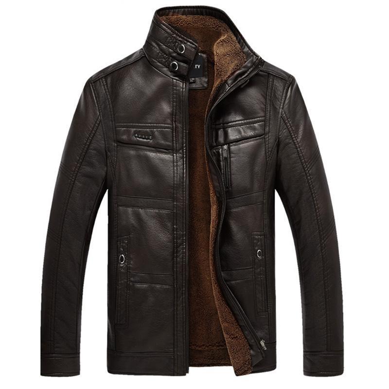 Giacche da uomo Xingdeng PU in pelle giacca di modo uomo marca di marca di alta azienda inverno finto pelliccia cappotti di pelliccia di qualità tuta sportiva maschile top vestiti più 5xl