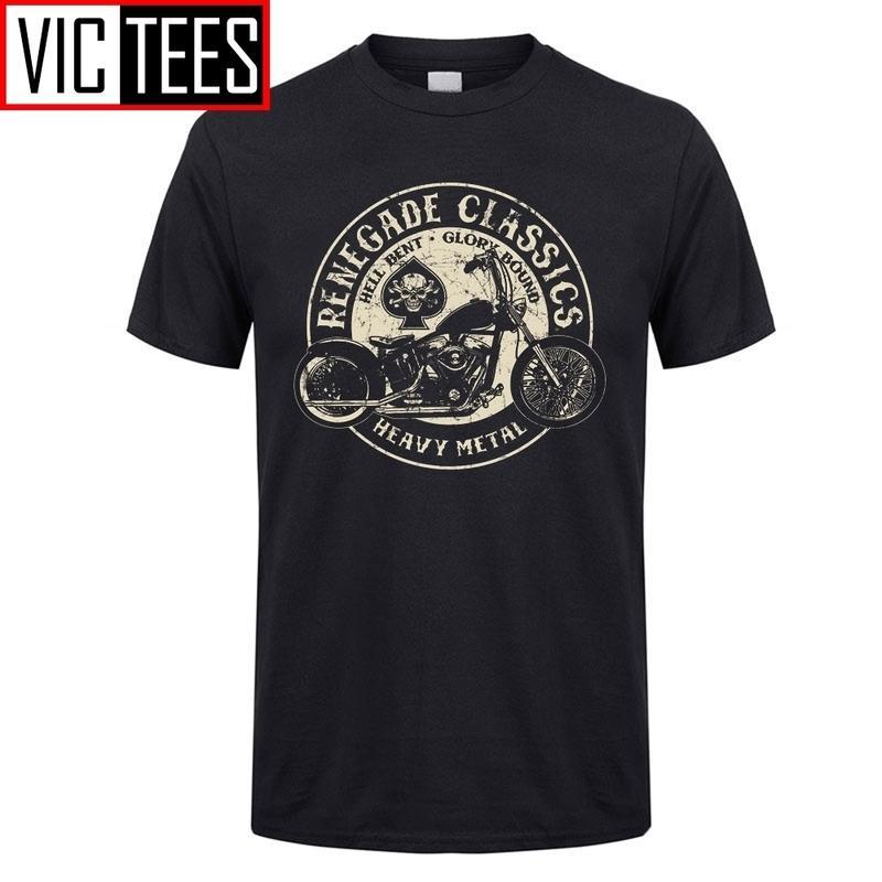 Uomo Vintage Glory Bounds Moto T-shirt USA T-shirt pesanti Metallo T Shirt T-shirt Top 100% cotone retrò tees maschile 210301