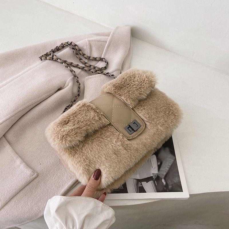 Модный бренд Женская 2021 Мода Мода Сумки Новые Иностранные Стиль Плюшевая Сумка Днев