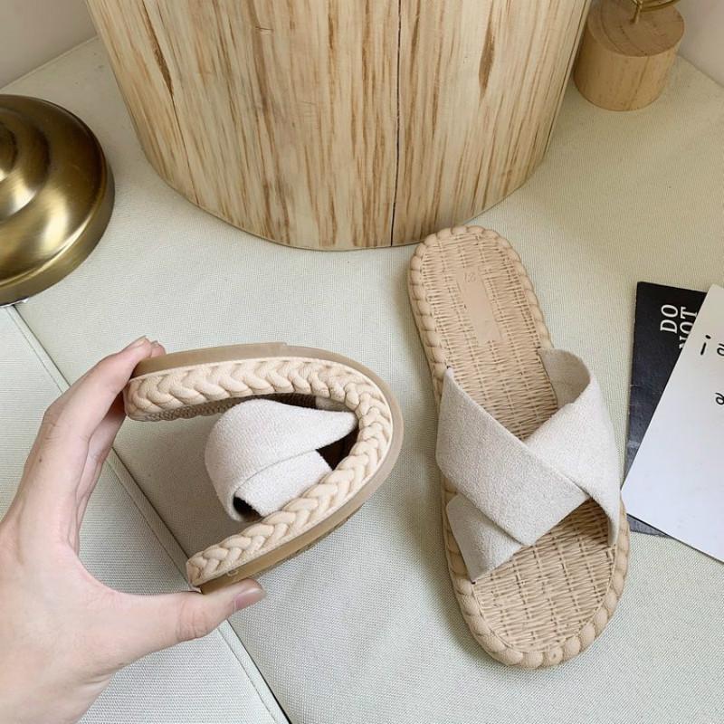 Frauen Schuhe Sandalen 2021 Sommer Strand Flip Flops Hausschuhe Frauen Indoor Sandels für Lässige Mode Weibliche Wohnungen Schuhe