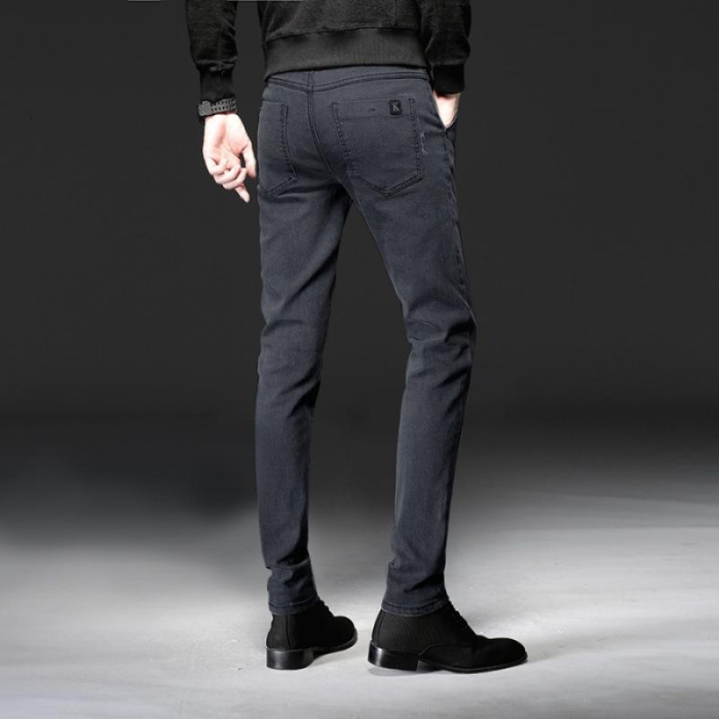 Autumn Black Grey Boys Jeans Jeans Moda coreana Abbigliamento casual da uomo Slim leggings versatile pantaloni stretch