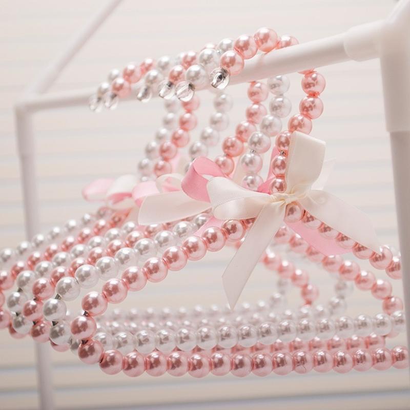 20cm pequeña perla perla percha para niños ropa moda perro colgadoras organizador sostenedor de almacenamiento de bastidor suministros