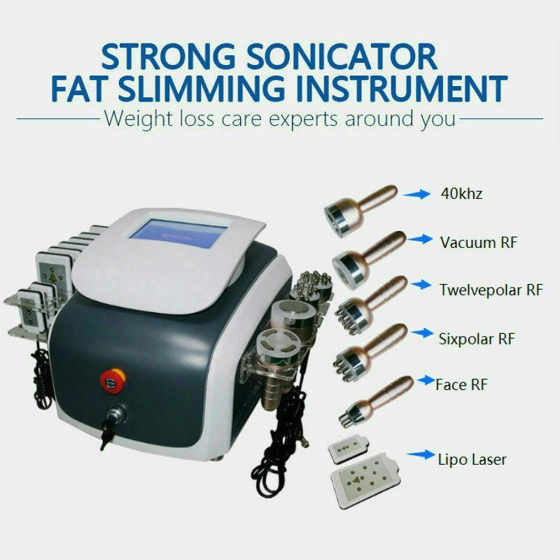 7 в 1 кавитация RF вакуумный микро ток холодного молотка фотон для похудения липо лазерной машины спа салона
