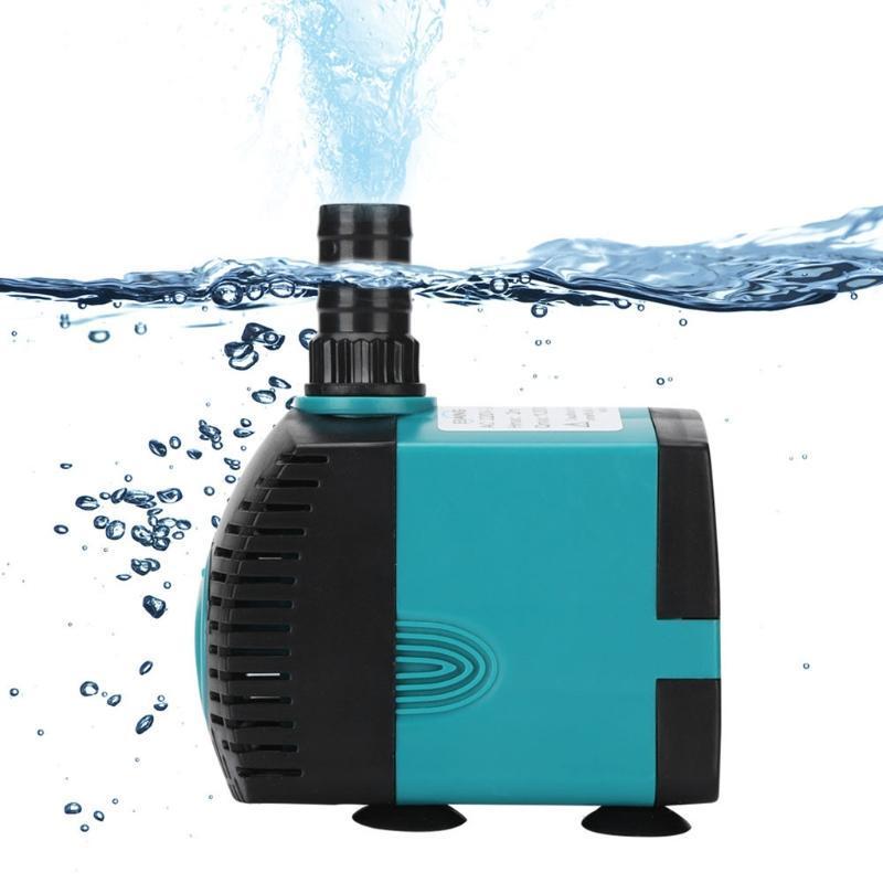 에어 펌프 액세서리 울트라 조용한 고강도 잠수정 워터 펌프 물고기 연못 분수 수족관 탱크 깨끗한 더러운 필터 3W-60W 220L / H-3000L