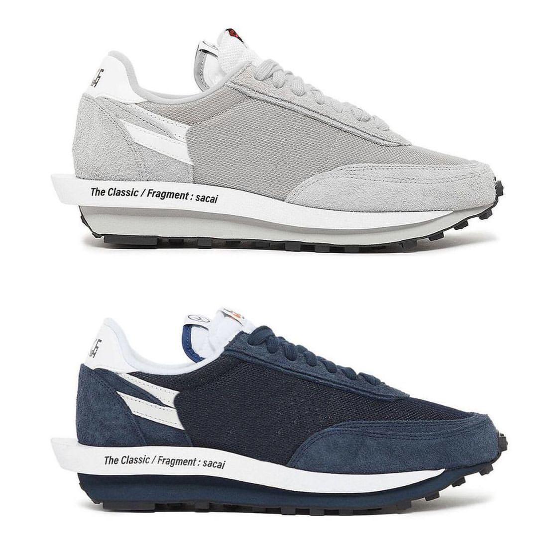 2021 Authentisches Fragment Sacais Schuhe Wolf Grau Blau Blau Oberklumpen Vaporwaffle 2.0 Waffel LDV Schwarz Weiß Männer Frauen Sport Outdoor Sneakers mit Original Box