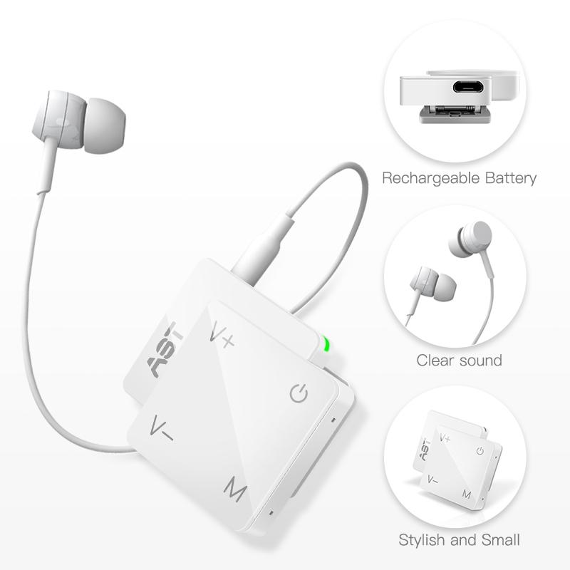 Mini Hearing Aid Rechargeable Speaker Amplifier Digital Earphone First Aids Ears Adjustment Tool For Senior Elderly Dropshipping