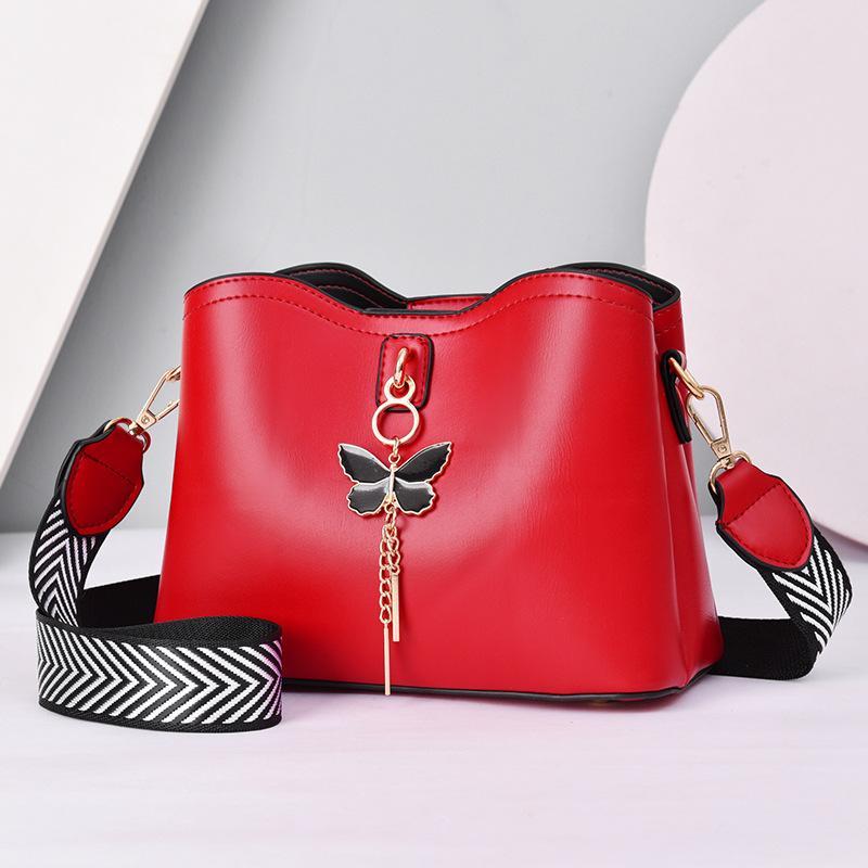 HBP 핸드백 지갑 여성 지갑 패션 핸드백 지갑 어깨 가방 붉은 색