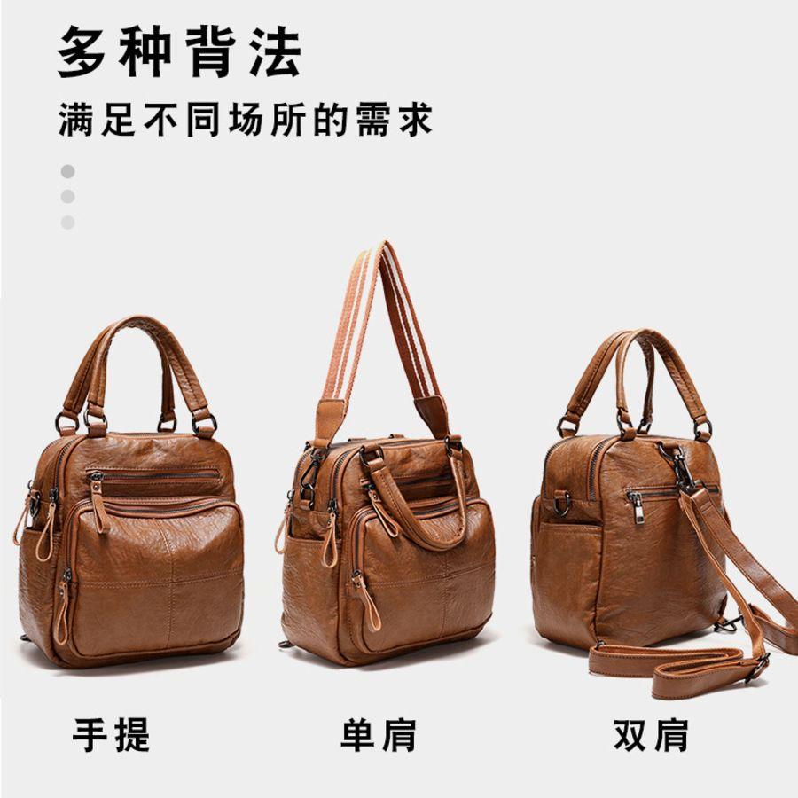2020 Nova bolsa Messenger Moda One Cowhide Double Ombro Bag Mulheres 8RJ0
