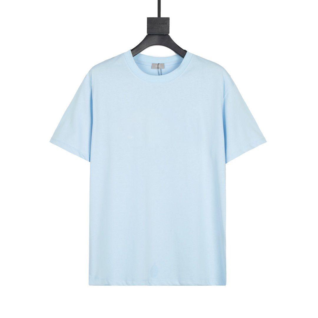 2021 Avrupa ve Fransa Son Moda Stil Basit Mektup Resim Baskı Rahat Bayanlar T-shirt Karışımlı Pamuk Slim-Fit Kumaş Tüm Maç