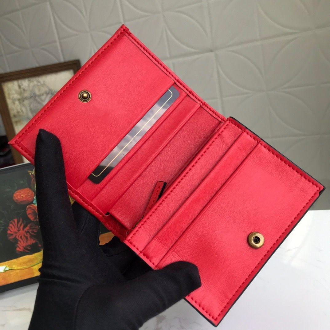 466492 ماركونت بطاقة حالة حامل محفظة مصمم إمرأة أسود جلد البطاقة zippy عملة محفظة مفتاح الحقيبة مصغرة pochette accessoires cles