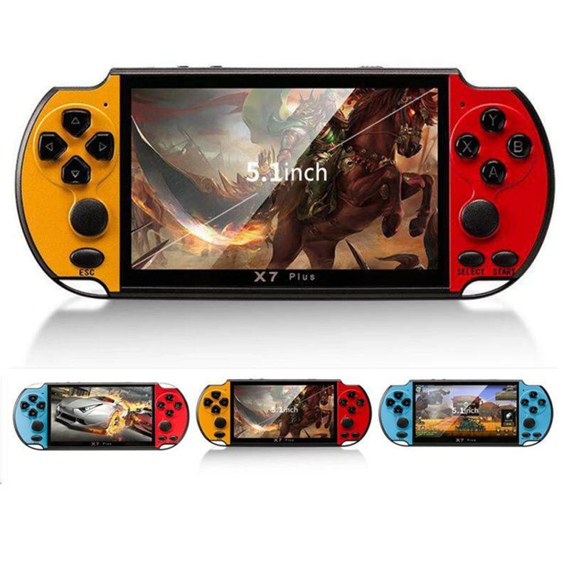X7 Plus Portable Retro Handheld Game Console 5.1 inch LCD Color 8GB Double Rocker Video Game Player