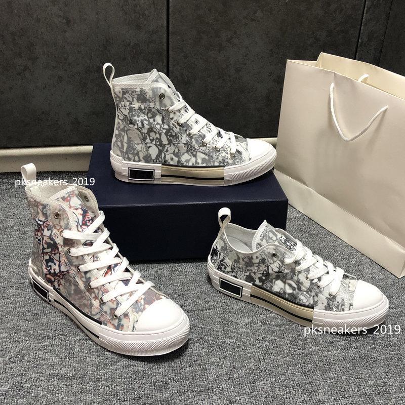 2021 Tasarımcı Spor Ayakkabı B23 Çapraz Yüksek Düşük Erkekler Ve Kadın Sneakersb24 Teknik Tuval Deri Bayanlar Rahat Ayakkabının En Kaliteli Lüks Moda 35-45