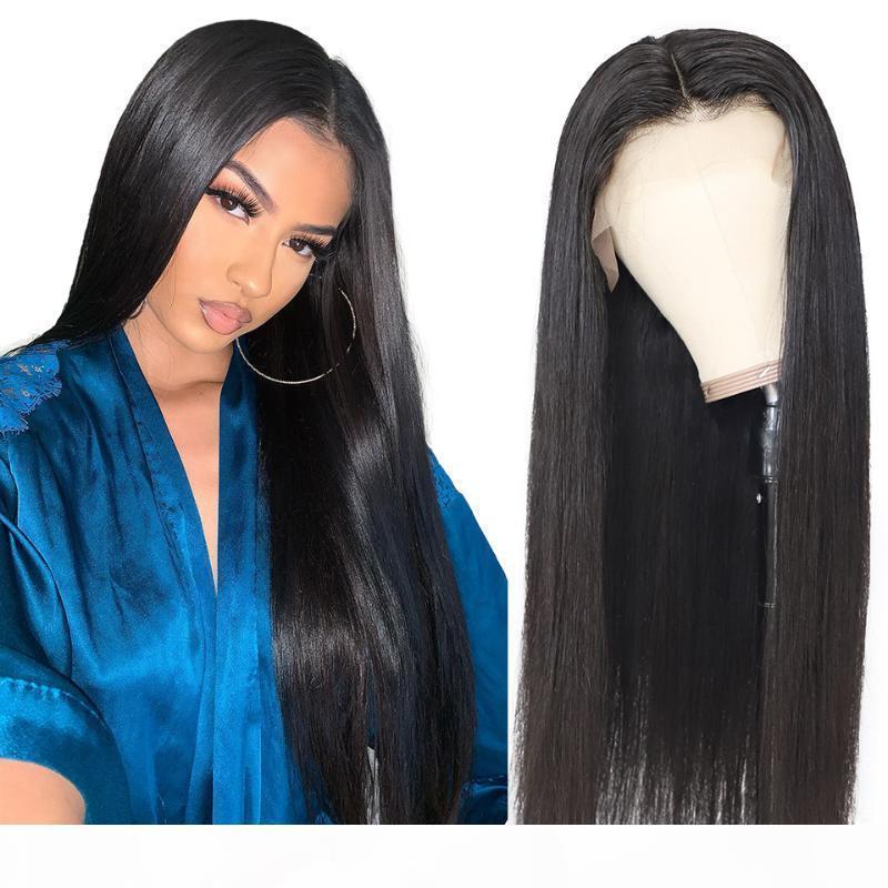 Brasilianisches gerades Haar 28 30 40 Zoll 13x4 Spitzefront Menschliche Haarperücken für Frauen vorgeptet Glueless Frontal Natürliche Remy Perücke