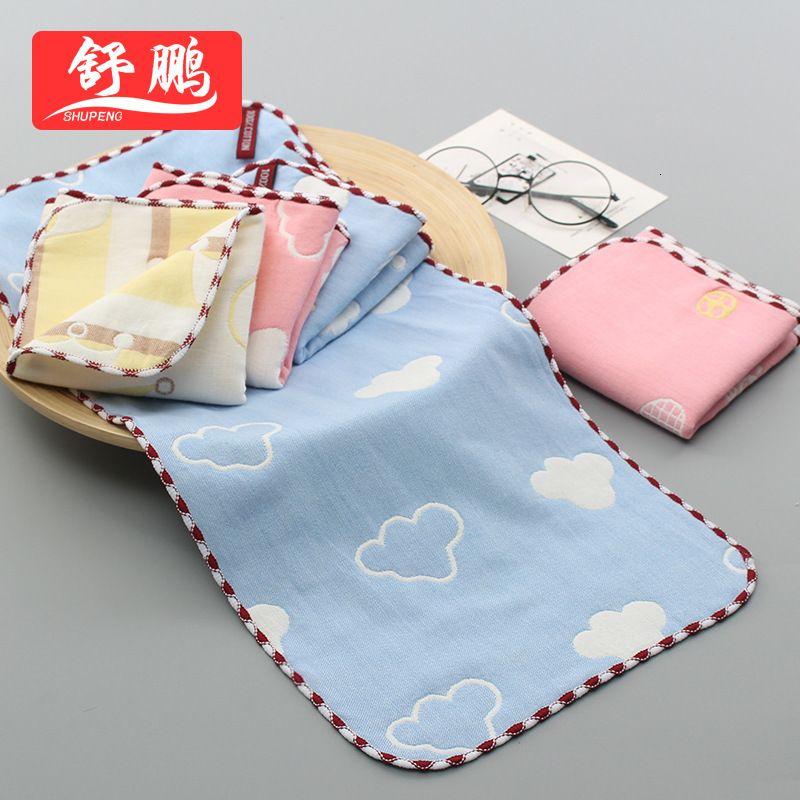 Pequenas seis camadas de toalha absorvente de algodão puro de pano de gaze para mãe e bebê