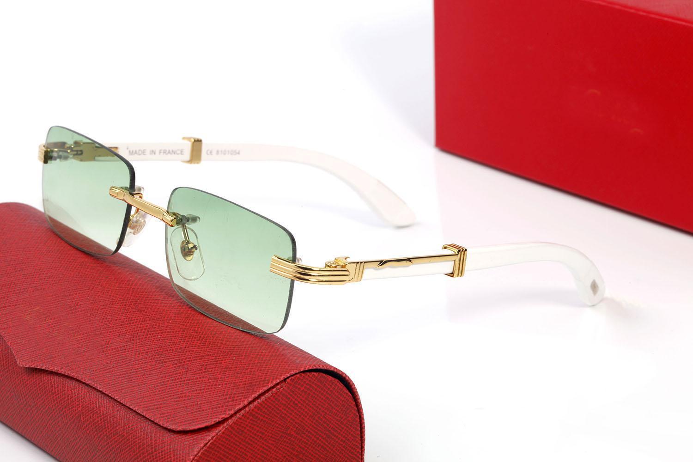 Óculos de sol de alta qualidade de luxo para homens e mulheres universais moda clássico quadrado moldura de madeira verão óculos de sol óculos de estimação búfalo óculos de chifre