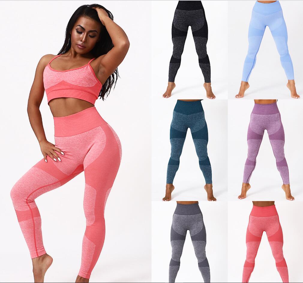 2021 Neue nahtlose Yoga Hosen Sport Fitness Hosen Slim Sweat Absorbierende Hüfte Frauen Leggings Yoga Hosen S-L
