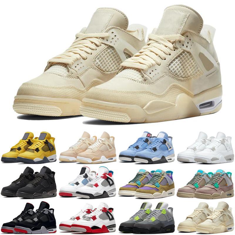4S Mens Basketball Chaussures Shimmer Lightning Cactus Jack Jack Thunder Sail Université Blue Hommes Formateurs Sports Sports Sneakers Remise